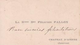 ANNEVOIE La Baronne Douairière Félicien FALLON Carte De Visite Avant 1900 Château D'ARBRE - Cartoncini Da Visita