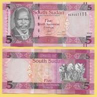 South Sudan 5 Pounds P-11 2015 UNC - Soudan Du Sud