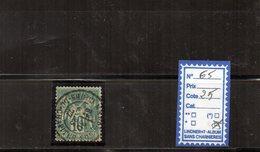 FRANCE N°65 - OBLITERE - 1876-1878 Sage (Type I)
