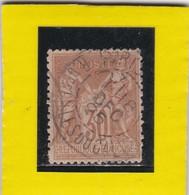 SAGE N° 80 +  CACHET A DATE  PARIS  - REF AC - 1876-1898 Sage (Type II)