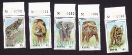 Kenya, Scott #568-572, Mint Never Hinged, Wildlife, Issued 1992 - Kenya (1963-...)