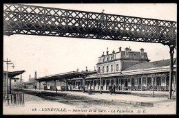 54-Lunéville, Intérieur De La Gare, La Passerelle - Luneville