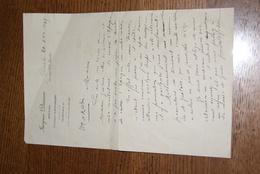 Courrier D'un Notaire De Blois 1935 - Unclassified
