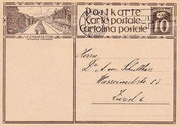 SCHWEIZ SUISSE 1930: CP 10c Brun  Bild-PK LA-CHAUX-DE-FONDS MÉTROPOLE HORLOGÈRE O ZÜRICH 9.I.1930 - Horlogerie