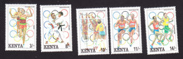 Kenya, Scott #578-582, Mint Hinged, Olympics, Issued 1992 - Kenya (1963-...)