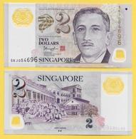 Singapore 2 Dollars P-46g 2015 UNC - Singapore