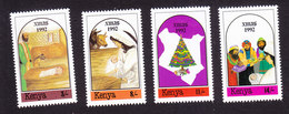 Kenya, Scott #583-586, Mint Hinged, Christmas, Issued 1992 - Kenya (1963-...)