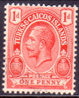 TURKS AND CAICOS ISLANDS 1913 SG #130 1d Used Wmk Mult.Crown CA - Turks And Caicos