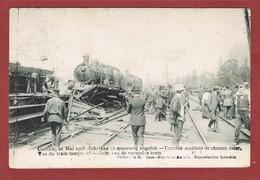 Zicht Van Vernielde Trein Contich 21 Mai 1908, Verstuurd 24 Mei 1908 - Kontich