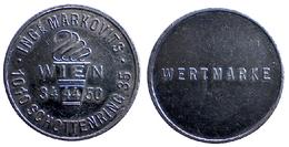 00114 GETTONE TOKEN JETON FICHA AUSTRIA WERTMARKE ING MARKOVITS 1010 SCHOTTENRING 35 WIEN 34 44 50 CHROME - Unclassified