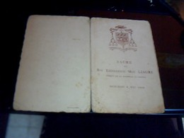 Menu Ancien De 1938  Sacre De Son Exelence Mgr Liagre   Eveque De La  Rochelle Et  Saintes - Menus