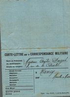 CARTE LETTRE POUR LA CORRESPONDANCE MILITAIRE - Unclassified