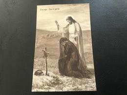 506 - Courage...Dieu Le Garde - 14/18 Carte Patriotique - Guerre 1914-18