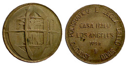 01674 GETTONE TOKEN JETON FICHA ADVERTISING I.P.Z.S. POLIGRAFICO ZECCA OLIMPIC GAME 1984 CASA ITALIA - Espagne