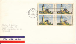 USA FDC Block Of 4 Maine Statehood With Cachet 9-7-1970 - First Day Covers (FDCs)