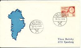 Greenland Ship Cover M/S Disko 9-5-1976 Sent To Denmark - Greenland
