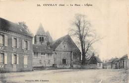 CPA 60 CUVILLY LA PLACE L EGLISE - Autres Communes