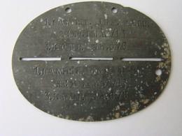 Plaque D'identité Allemande Modèle 1916 - 1914-18