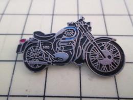 PIN513K Pin's Pins / Rare Et Beau : MOTO NOIRE ET ACIER RETRO ROUTIERE BSA - Motorbikes