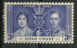 Gold Coast 1937  3p  Coronation Issue #114 - Gold Coast (...-1957)