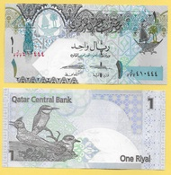 Qatar 1 Riyal P-28 2015 UNC - Qatar