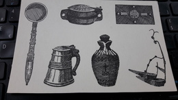 Iceland THE ARBAER FOLK MUSEUM REYKJAVIK Carved Spoon, Food Vessel And Tankard Communion Chest And Wine Flask Oil Lamp - Iceland