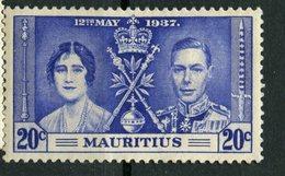 Mauritius 1937  20c  Coronation Issue #210 - Mauritius (...-1967)