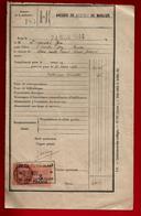 Reçu Collège De Garçons De Morlaix 24-11-1944 élève L'Hostis Guy ? - Tp Fiscal - 1900 – 1949