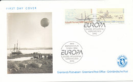 Greenland FDC EUROPA CEPT 5-5-1994 Complete Set With Nice Cachet - Europa-CEPT