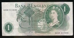 1 POND - ONE POUNDS N° N09M 411638  - 2 SCANS - 1952-… : Elizabeth II