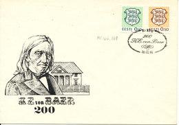 Estonia Special Cancel K. E. Von Baer 28-2-1992 With Cachet - Estonia
