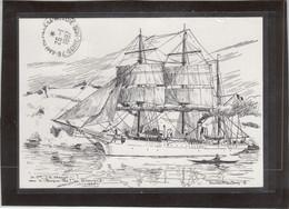 Timbre Groenland Sur Carte Postale Le POURQUOI-PAS? ( Etienne Blandin ) - Grönland