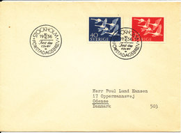 Sweden FDC Nordic Cooperation 30-10-1956 Sent To Denmark - FDC
