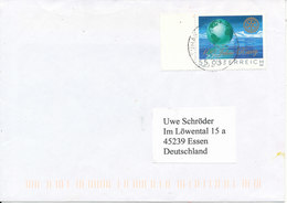 Austria Cover Stamped With ROTARY Stamp Sent To Germany 24-2-2006 MAP On The Stamp - Rotary, Lions Club