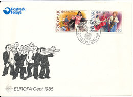 Faroe Islands FDC Music EUROPA CEPT 1-4-1985 With Cachet - Europa-CEPT