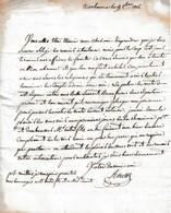 1816 - NARBONNE - L.A.S. ROUSSY à M. SOUMEL, Directeur Des Produits Du CANAL DU MIDI à TOULOUSE - Historische Documenten
