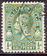 TURKS AND CAICOS ISLANDS 1928 SG #176 ½d Used POSTAGE & REVENUE - Turks And Caicos