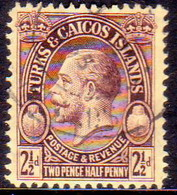 TURKS AND CAICOS ISLANDS 1928 SG #180 2½d Used POSTAGE & REVENUE - Turks And Caicos