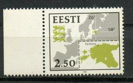 Estonia 1991 2.50 Map Issue  #210 - Estonia