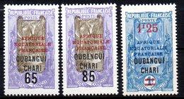 Col 8 : Oubangui Neuf XX MNH   N° 67  68 & 70  Cote 13,00 € - Ongebruikt