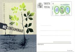 """"""" No Contaminar """" Entier Postal, Espagne 2012 - Umweltschutz Und Klima"""