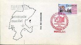 33109 Mexico, Fdc 1994 Zacatecas,  Unesco World Heritage Patrimonio Cultural De La Humanidad - Monuments