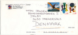 USA Cover Sent To Denmark 2001?? Topic Stamps - Covers & Documents