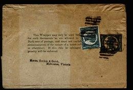A5415) Queensland Australia Uprated Wrapper To Melbourne - Briefe U. Dokumente
