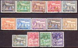 TURKS AND CAICOS ISLANDS 1938-45 SG #194-205 Compl.set Used CV £60 - Turks And Caicos