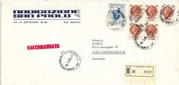 Italy Registered Cover Sent To Denmark Genova 5-3-1980 - 6. 1946-.. Republic