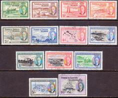 TURKS AND CAICOS ISLANDS 1950 SG #221-33 Compl.set Used CV £42 Ships - Turks And Caicos