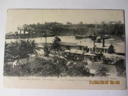 Cpa FORT DE FRANCE (Martinique) Le Carénage Et Le Croiseur Australien Sidney - Fort De France
