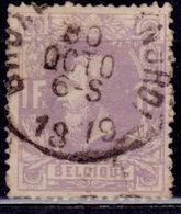 Belgium, 1870, King Leopold II, 1fr, Sc#36, Used - 1869-1883 Leopold II