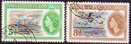TURKS AND CAICOS ISLANDS 1955 SG #235-36 Compl.set Used - Turks And Caicos